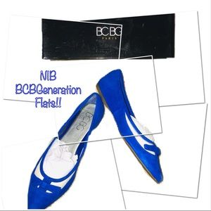 ‼️🔥JUST IN!! NIB BCBGeneration Blue Flats!🔥‼️